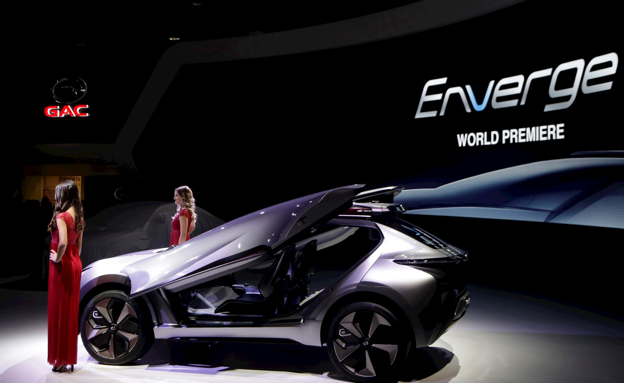 Enverge. GAC's slick electric concept car