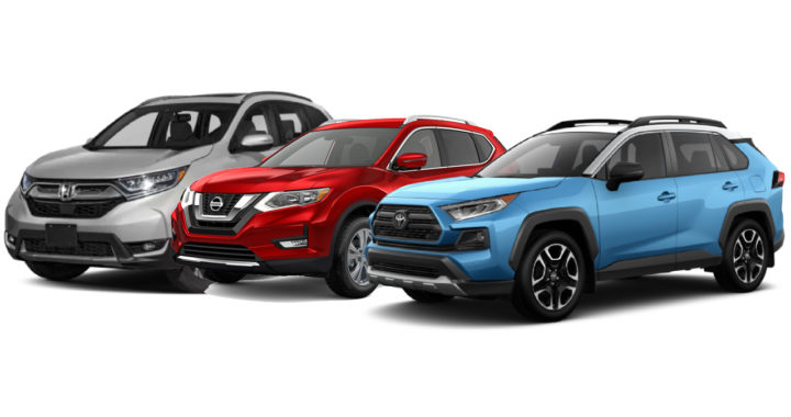 Rogue Vs Crv >> Compare Honda Cr V Vs Nissan Rogue Vs Toyota Rav4